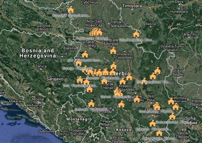 Drustvo Putnika Srbije Pa Twitter Mapa Planinarskih Domova U