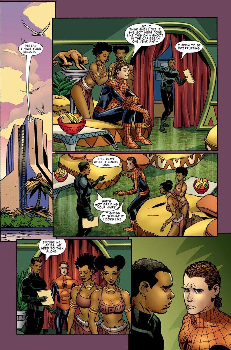 This nigga Peter Parker went to Wakanda...