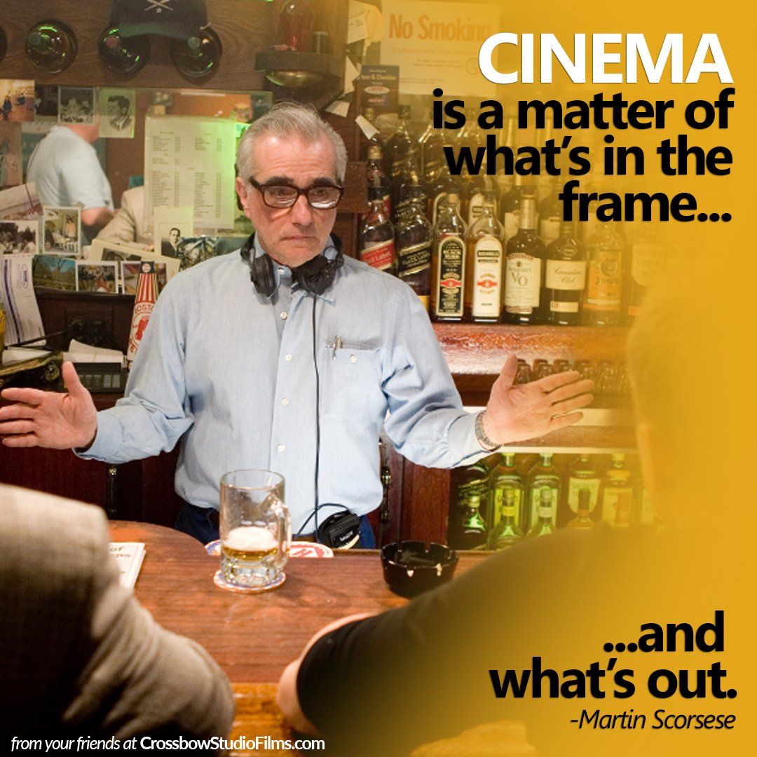 Cinema is a matter of what's in the fram...