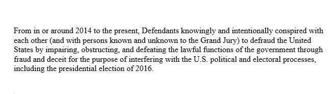 """To those who have been wondering how """"collusion"""" might be charged, the Special Counsel has now given us a good indication:    https://t.co/crQ7QTLHm9"""