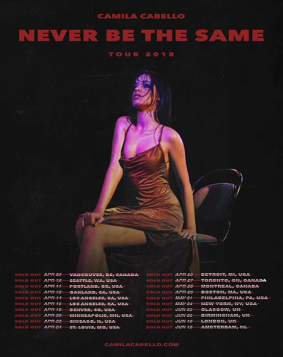 I have no words- thank you  THE TOUR IS SOLD OUT!!!!!!!! 😭😭😭😭😭😭😭😭😭😭😭😭😭😭 i can't wait to see you all out there 🔮🔮🔮 #NeverBeTheSameTour