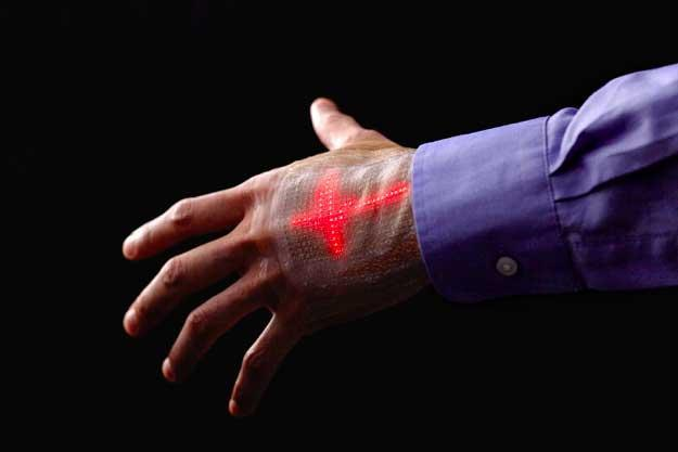 Electronic skin animates heartbeat on the back of your hand https://t.co/HVhzdETJ2U