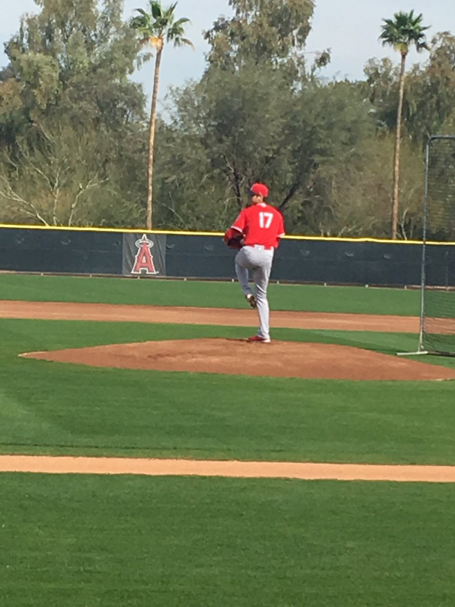 New guy. For some reason my phone won't allow me to post video. #Angels #Ohtani