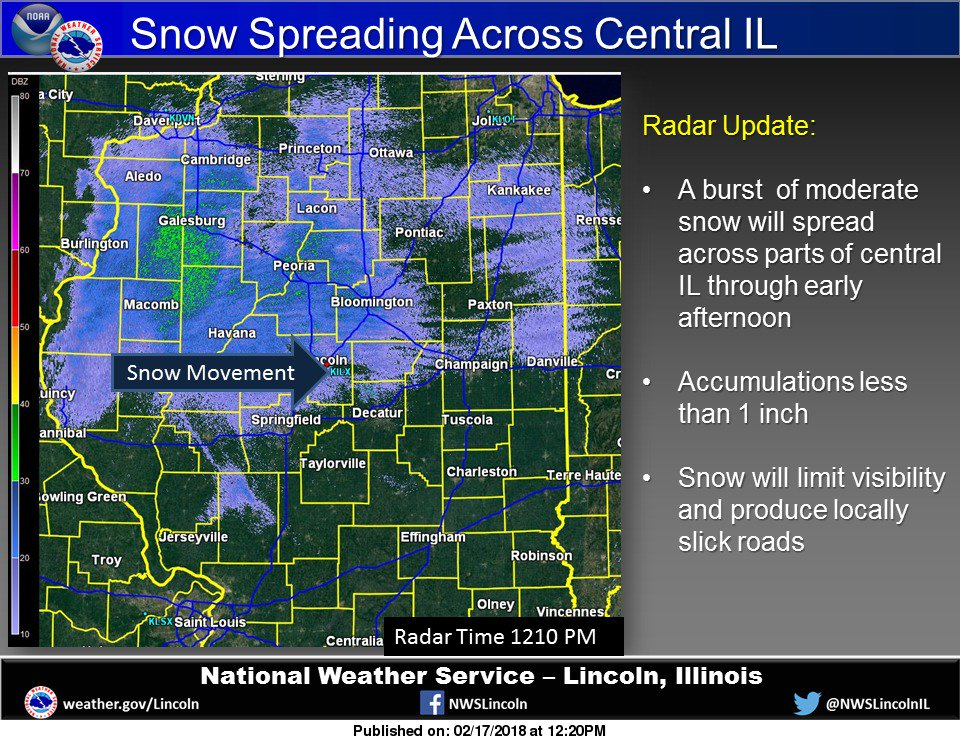 nws lincoln il on twitter snow spreading across parts of. Black Bedroom Furniture Sets. Home Design Ideas