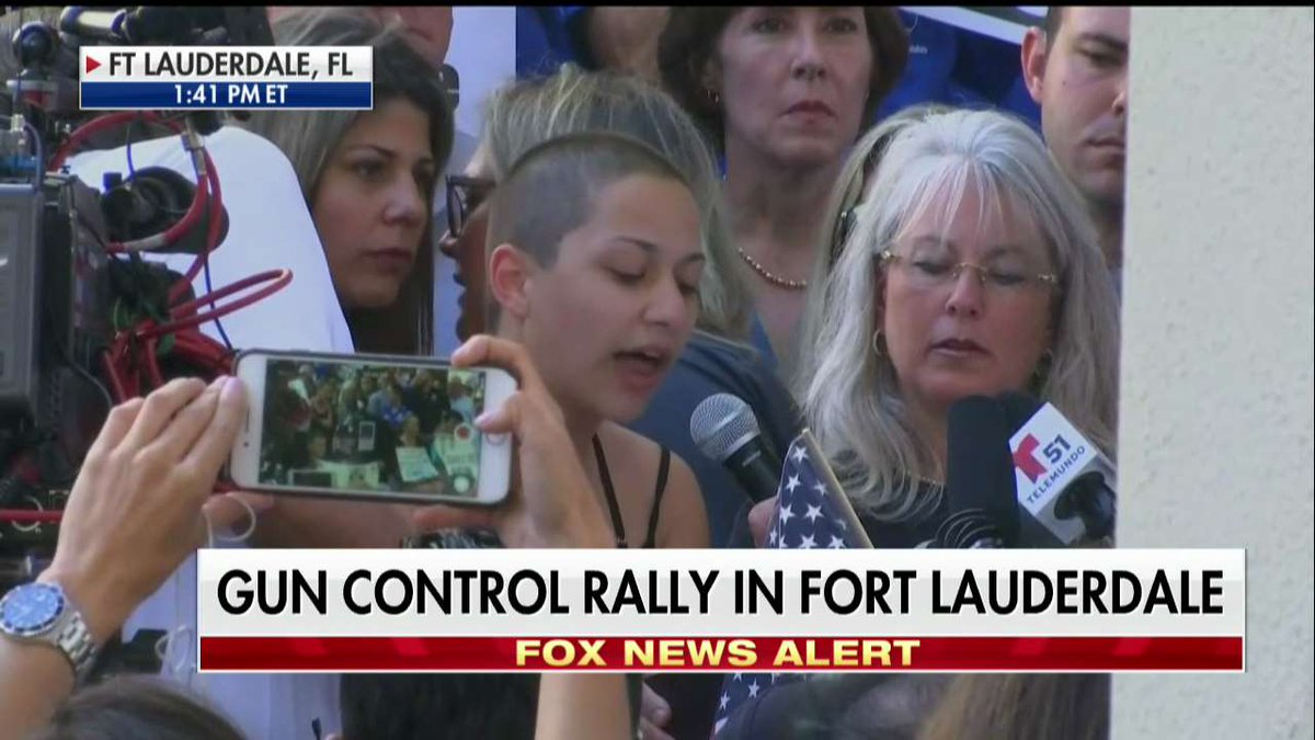 Happening Now: Gun control rally in Fort Lauderdale, Florida.