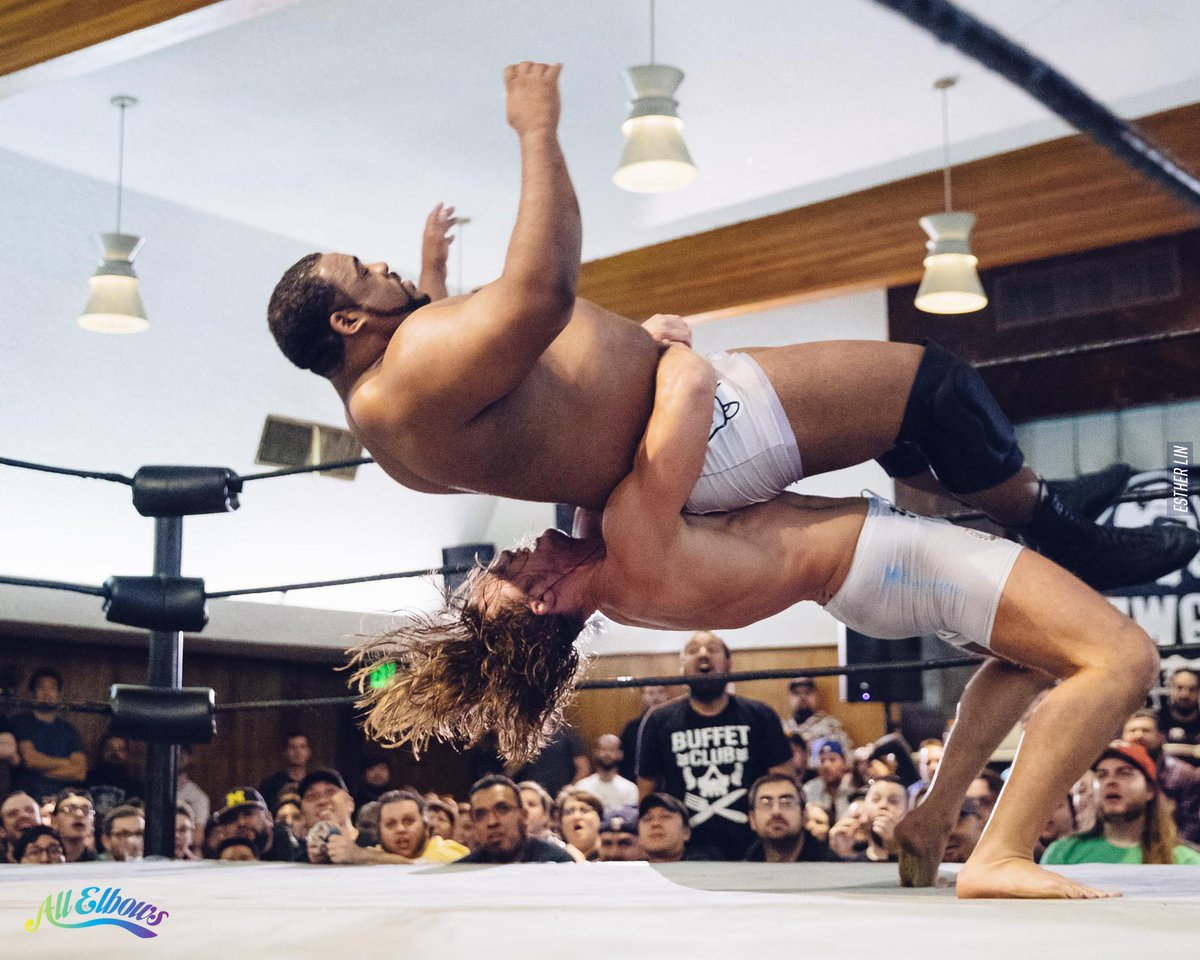 Dunno how @SuperKingofBros did this to @RealKeithLee #neonknights at @OfficialPWG