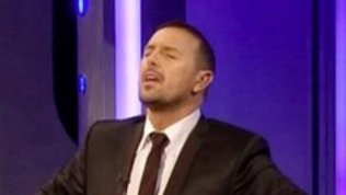 Paddy McGuinness sings 'all by myself' o...