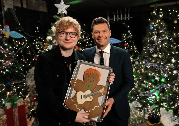 Happy bday @edsheeran! Hope your cake is as good as the gingerbread man I got you for Christmas. https://t.co/lrqHXjmBov