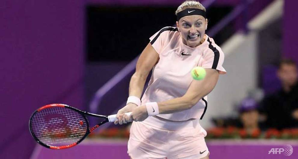 Tennis: Kvitova through to Qatar Open fi...