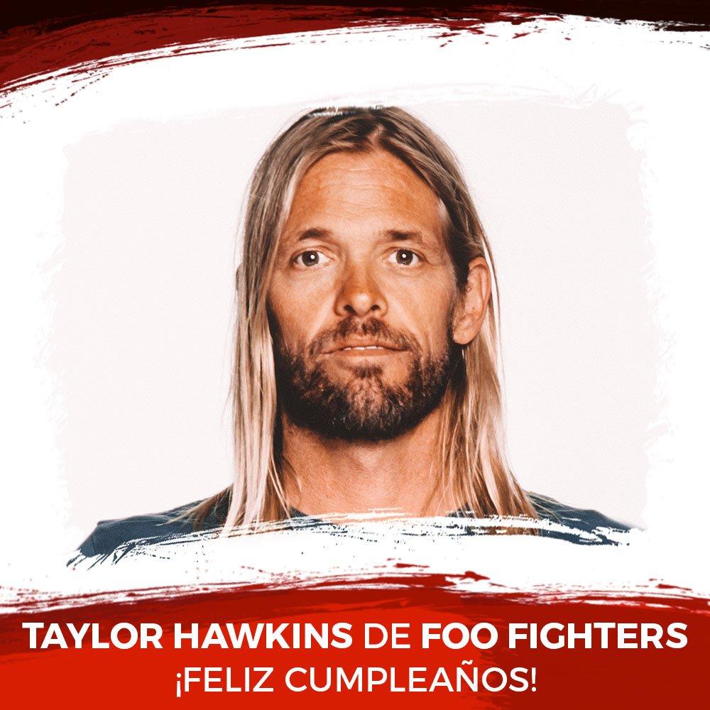 ¡@taylorhawkins de @foofighters está de...