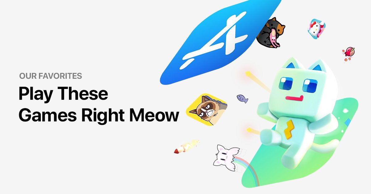If you just love cats like we do, you should play these games immediately!  Click right meow: apple.co/CatGames