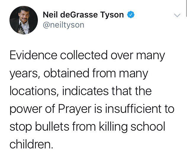 Thank you @neil.tyson #guncontrolnow https://t.co/sbXqKj7abC