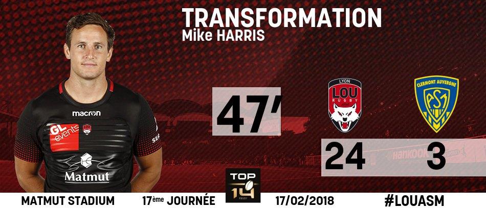 47' : 24 - 3  | #TEAMLOU #TOP14  | Trans...