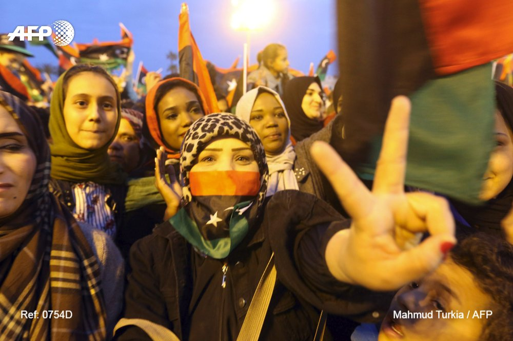 Thousands of Libyans mark the seventh anniversary of the start of protests that ousted dictator Moamer Kadhafi https://t.co/gQBUOFq8LR