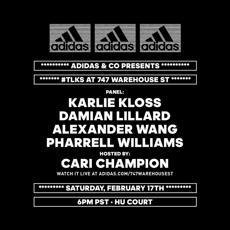 Join me, @Pharrell, @AlexanderWangNY and...