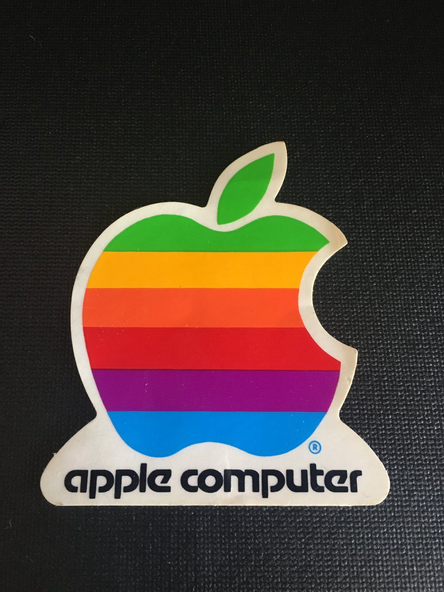 My wife thinks I keep too much stuff but I just found this Apple sticker from 1984? and now who's laughing?