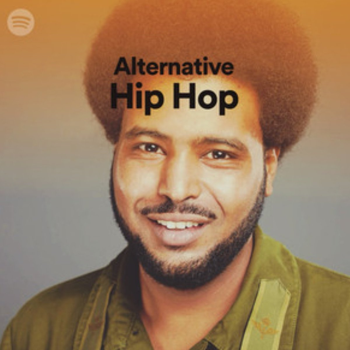 My smiling mug is the cover of the Alternative Hip-Hop Playlist on @Spotify. It includes The Ghetto and Guillotines which are both on #AwateHappiness so save/follow both!! @spotifyartists @SpotifyUK