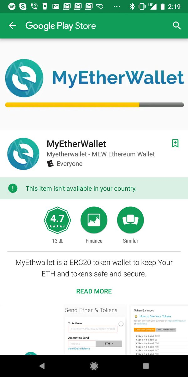 Another fake app, we don't have any apps yet. If you see a myetherwallet app it is fake please report!