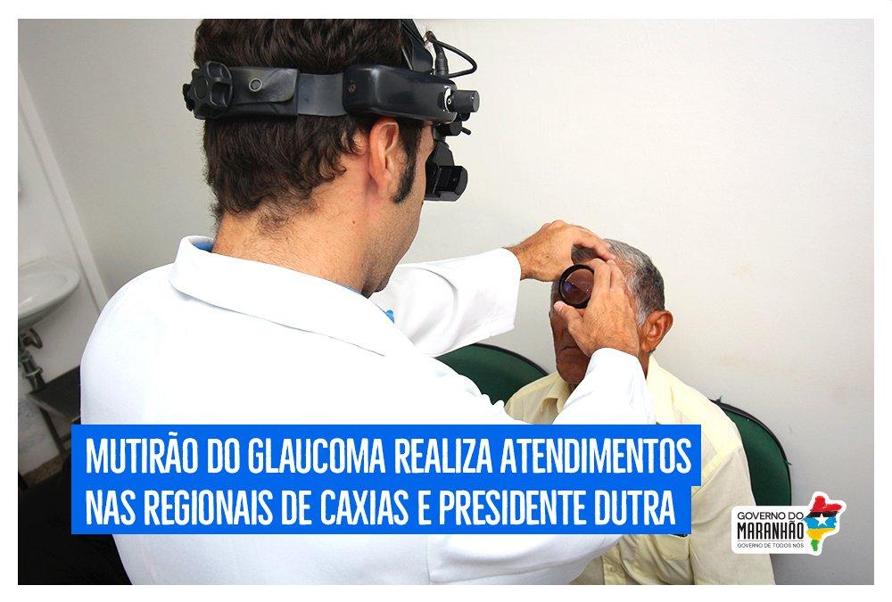 Vinte municípios das regionais de saúde de Caxias e Presidente Dutra receberão até a próxima quinta-feira (22) o Mutirão do Glaucoma, que garante o acesso ao diagnóstico e tratamento gratuitos aos maranhenses. https://t.co/LeMKEXKmOd #GovernoDeTodosNós