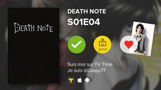 psst  S01E04 of Death Note! #deathnote...