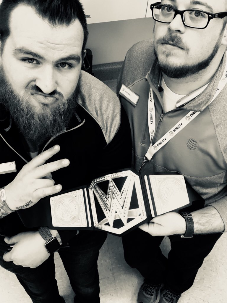 Mike and Nick hopping on the DTV PREMIUM TRAIN today! #championsleague #dawgpound @DaleB1