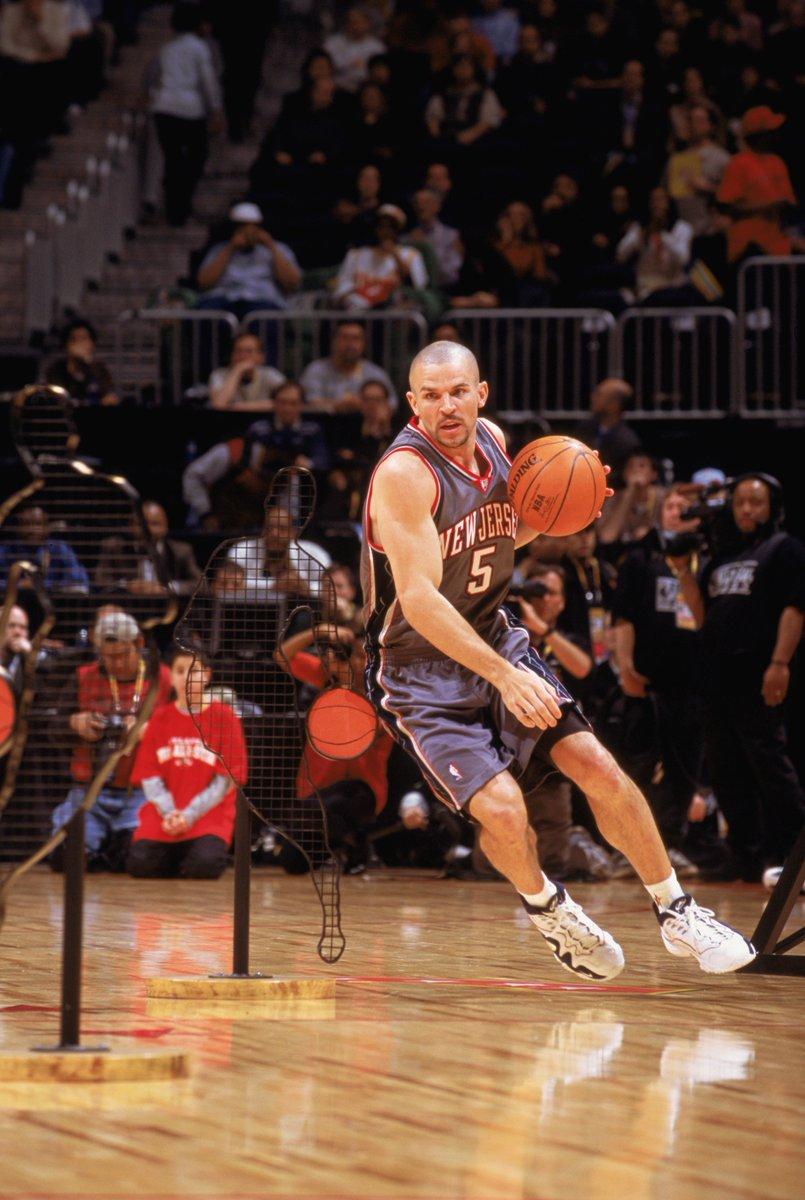 O primeiro Desafio de Habilidades aconteceu em Atlanta no ano de 2003! O vencedor da 1ª edição foi @RealJasonKidd (35.1 seg)! Acompanhe o #TacoBellSkills do #NBAAllStar, às 23h, na @ESPNagora, @SporTV .com e NBA League Pass (https://t.co/H49fGTQaWb )! #NBAnaESPN #AllStarNoSporTV