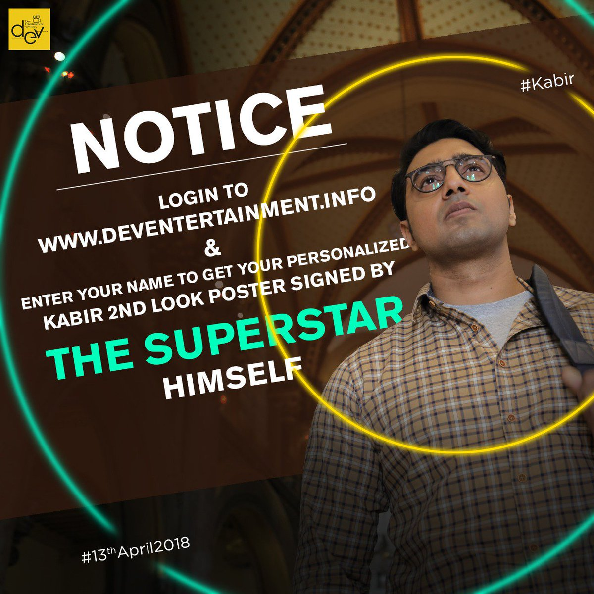 The Next New Personalised Poster of #KABIR is here ! Are you ready to get yours ? Then Login into 👉 deventertainment.info. Tweet us your personalized poster.  #KABIR #April2018.
