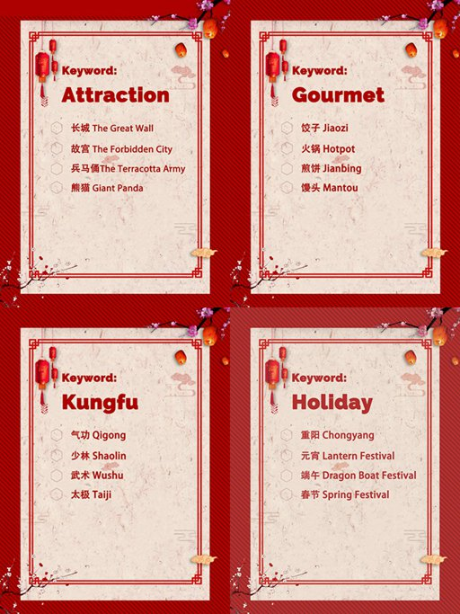 China International Publishing Group releases a report on the most recognized Chinese words overseas. How many Chinese characters do you know?