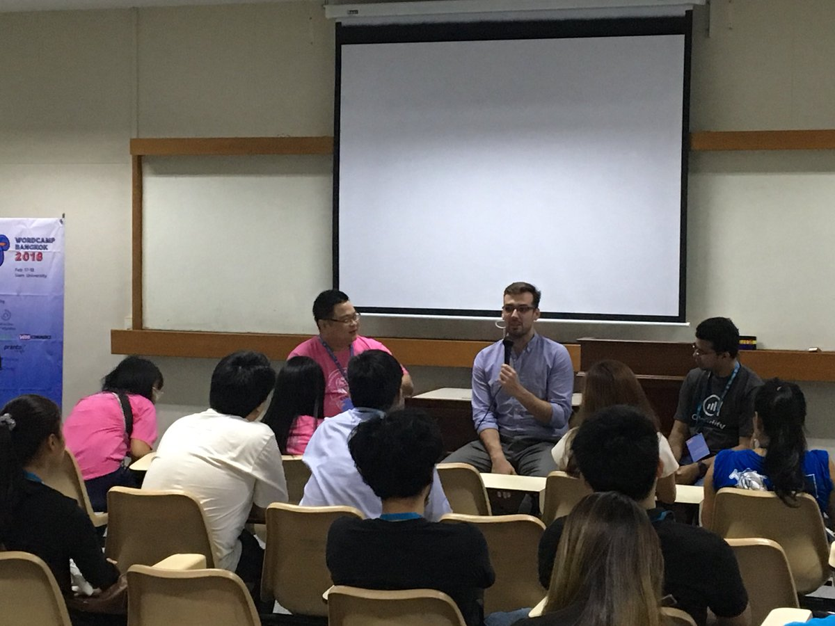 test Twitter Media - @Asif2BD and @obenland is delivering a session on the Future of WordPress at @WordCampBKK #wcbkk #analytify https://t.co/9dSIQya0OV