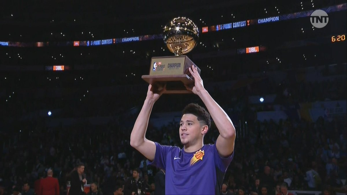 Devin Booker Wins the 2018 NBA Three-Point Shootout