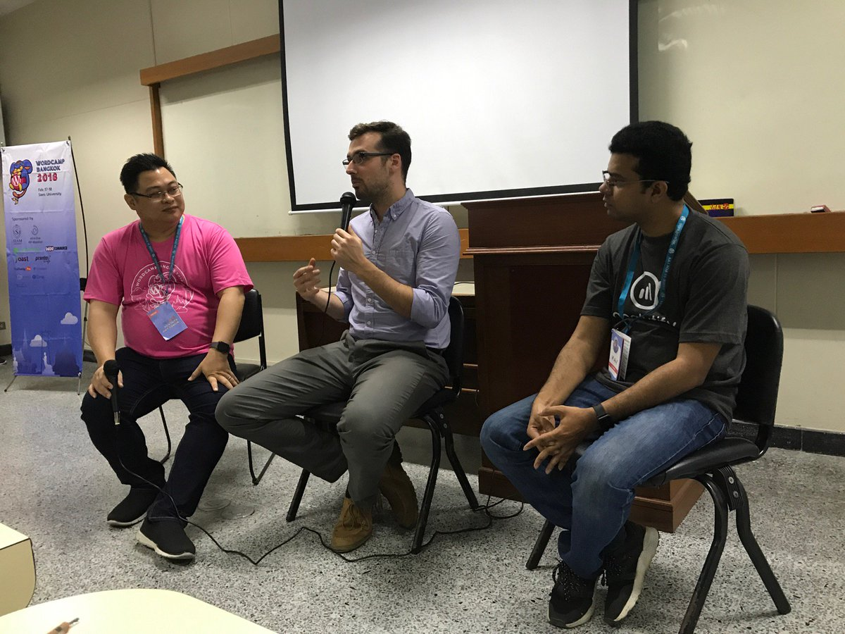 test Twitter Media - #WCBKK 1st session: AMA with @obenland @Asif2BD hosted by @SeedThemes CEO (@ Siam University in Phasi Charoen, Bangkok w/ @travlbum @kenshino @musus1127) https://t.co/PCxL7BehIh https://t.co/UJkKPs3a2f