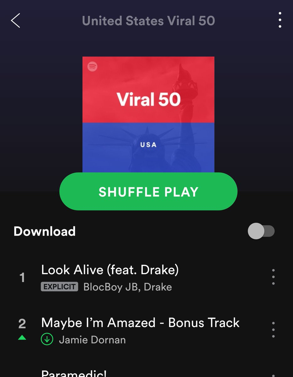 JAMIES SONG IS NUMBER 2 ON THE VIRAL CHA...