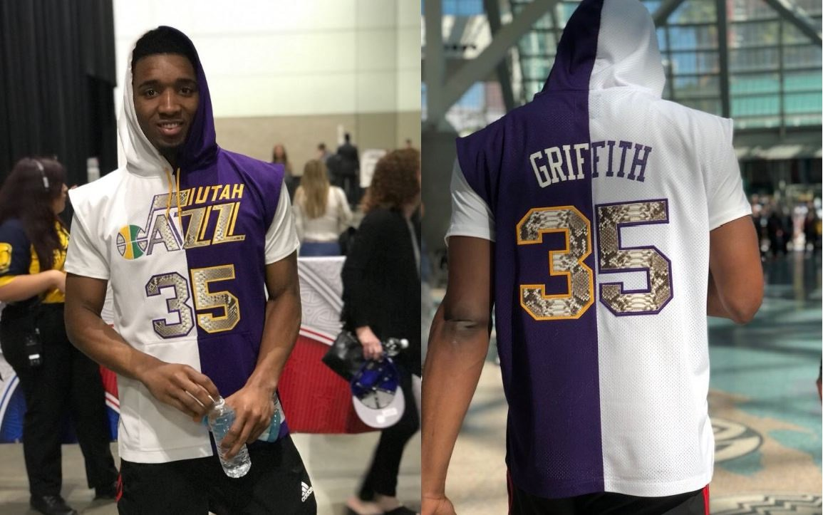 3bb1813fe donovan mitchell pays homage to darrell griffith aka dr dunkenstein during  nba all star weekend