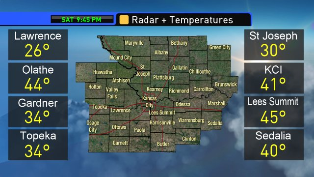 Here are the latest weather conditions a...