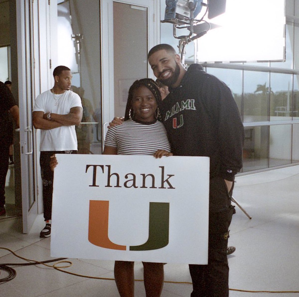 Thank you to The U for the assistance in...