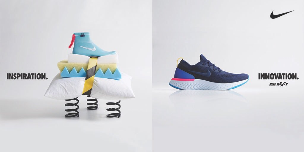 5a4a45ba9897 Nike Epic React Flyknit  The Running Shoe That Can Do It All. Peep The  Details  http   finl.co EUy pic.twitter.com C9o79u0Eub
