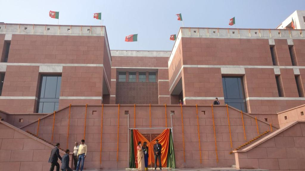 Prime Minister Shri @narendramodi to inaugurate BJP's new headquarters at Delhi's Deen Dayal Upadhyay Marg in the presence of BJP National President Shri @AmitShah and other senior leaders of BJP. LIVE at https://t.co/jtwD1z6SKE