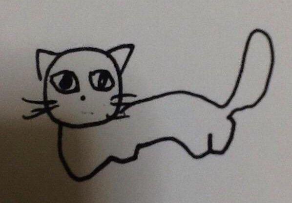 マジで載せたことある絵ってこの『見ていると不安になる猫』なので、「絵描きの人が無...