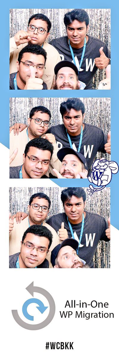 test Twitter Media - Fun time in #PhotoBooth at #WCBKK by All-In-One WP Migration! @WordCampBKK #WordCamp #Y2KPhotoSticker #WordCampBKK https://t.co/xlOagURp4Y
