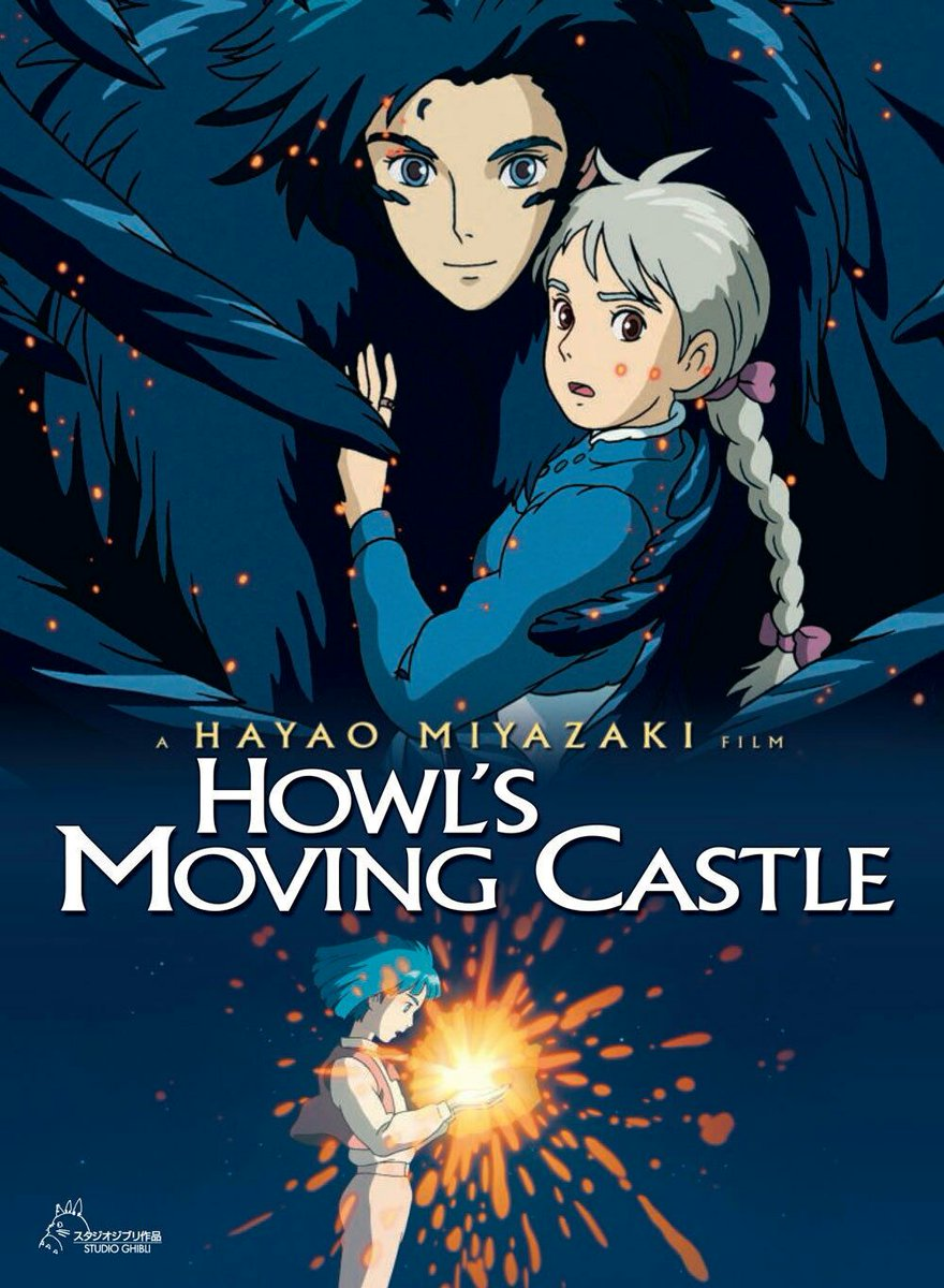 I can&#39;t count how many times I&#39;ve watched &quot;Howl&#39;s Moving Castle&quot; and everytime I do, I&#39;m falling for it even more. Who wouldn&#39;t love Sophie the wallflower and Howl who&#39;s making magic sexy since 2006? You should give this a try! (fantasy, romance, morality tale) #ハウルの動く城 <br>http://pic.twitter.com/7X0rTUXma4