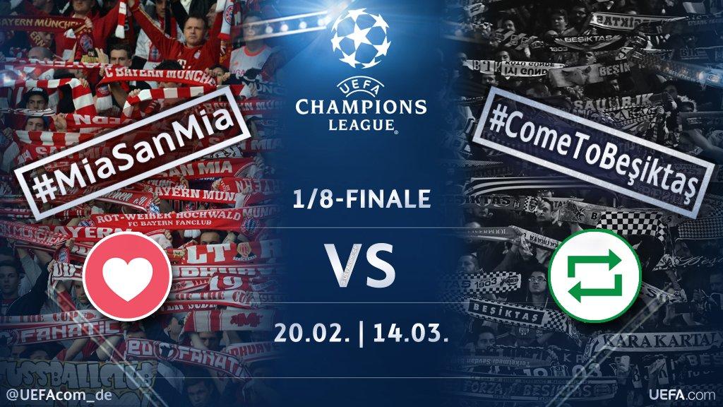 #UCL Countdown 🕘  ❤️ = #MiaSanMia 🇩🇪 🔁 = #ComeToBeşiktaş 🇹🇷  #FCBBJK #BJKFCB @FCBayern #Beşiktaş