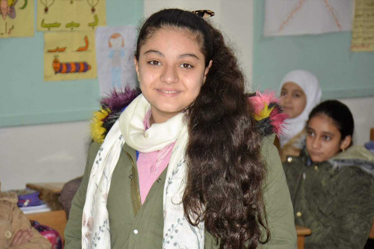 "Id like to be a pharmacist in the future,"" says Bayan, who had to leave her home in Daraya &now attends school in Jaramana camp. The teachers have made her feel at home. Thanks #Japan for supporting our schools #Japan4UNRWA #DignityIsPriceless #FundUNRWA unrwa.org/donate"