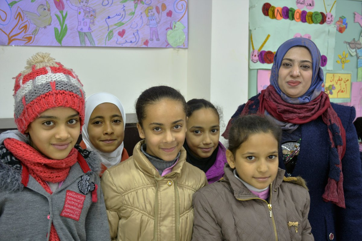 "Samar is an Arabic teacher in Jaramana refugee camp in #Syria. Many of her students are displaced. ""We work hard to create an enabling environment for the students,"" she says. Japan supports 190 teachers in UNRWA schools in #Syria #Japan4UNRWA #FundUNRWA unrwa.org/donate"
