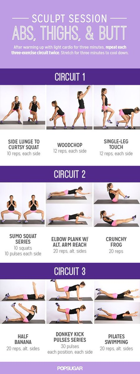 Sculpture your abs, thighs, and butt. #f...