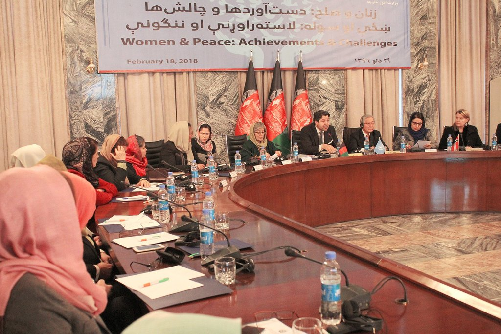 Discussed #womens inclusive participation in the efforts for peace at #Women & #Peace: Achievements and Challenges meeting at @mfa_afghanistan. Our recommendations to be incorporated into the peace component of upcoming 2nd #KabulProcess meeting. @FawziaKoofi77 @HekmatKarzai