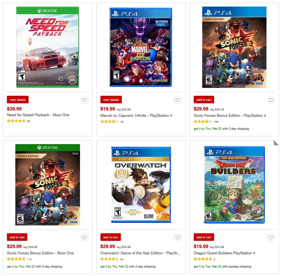 Cheap Ass Gamer On Twitter Weekly Video Game Deals Via Target Marvel Vs Capcom Infinite Reg 3 537 Am 18 Feb 2018