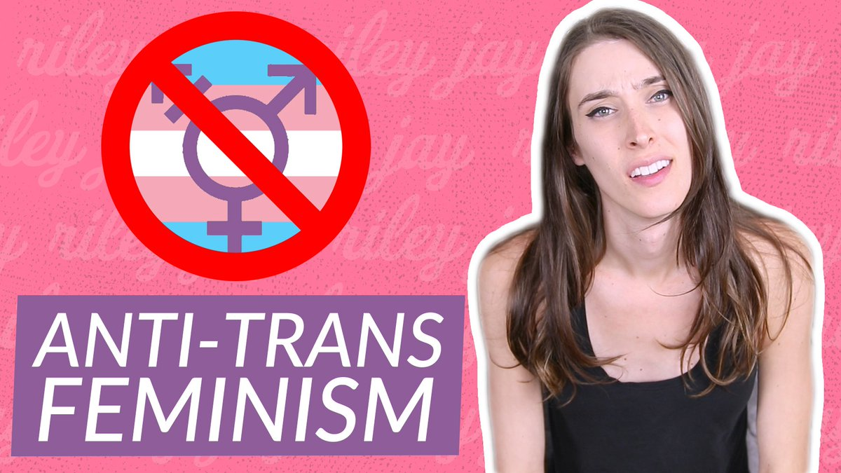 Riley j dennis on twitter new video what is a terf httpst riley on the right looking confused a no symbol over a trans symbol on the biocorpaavc Choice Image