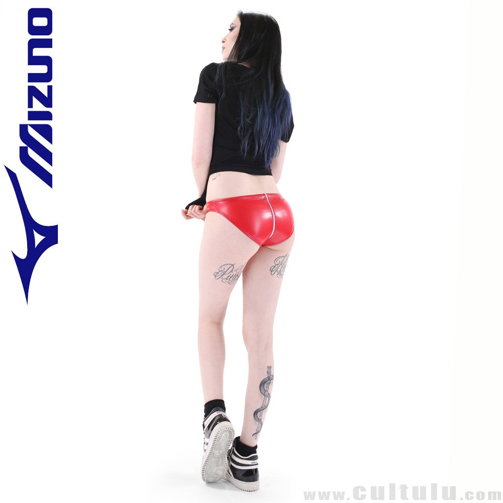 23672dc0d7d MIZUNO rubberized WATERPOLO swim briefs in awesome RED available NOW at:  http://shop.cultulu.com/mizuno_briefs_85RQ96_red …