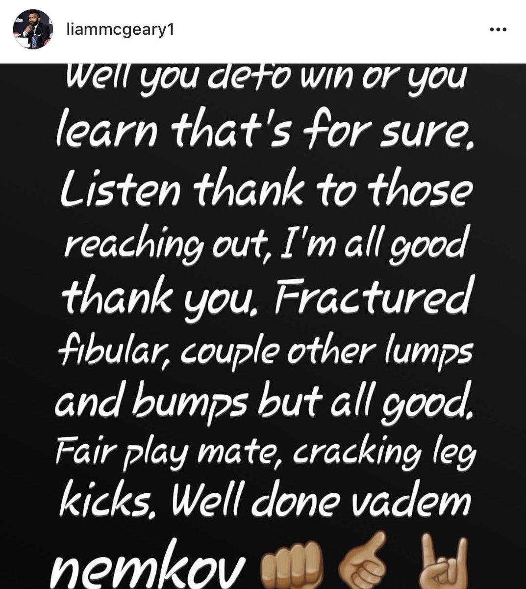 Liam McGeary reveals he got a fractured fibula in the Vadim Nemkov ...