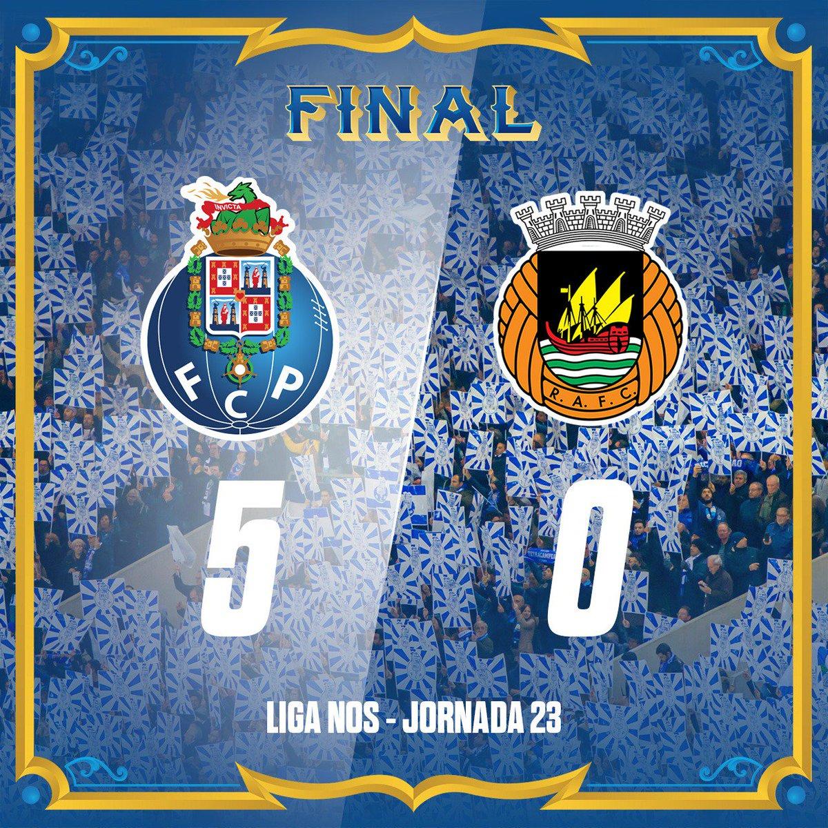 Final de Jogo / End of the match / Final del Partido  2' [1-0] Sérgio Oliveira ⚽ 22' [2-0] Soares ⚽ 34' [3-0] Marcelo p.b. ⚽ 72' [4-0] Marega ⚽ 86' [5-0] Soares ⚽  #FCPorto #FCPRAFC